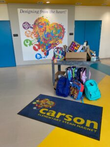 Carson elementary school donations